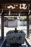 Japanese shrine precincts. The construction of religion / Japanese shrine stock image