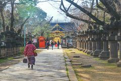 The Japanese shrine in the Ueno Park, Tokyo, Japan Royalty Free Stock Photography