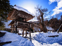 Japanese shrine in winter Royalty Free Stock Images