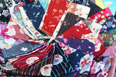 Japanese silks Royalty Free Stock Images