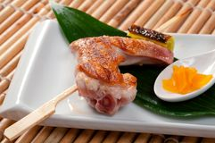 Japanese skewered chicken,Yakitori Stock Photography