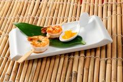 Japanese skewered  Jumbo Shrimp Royalty Free Stock Images