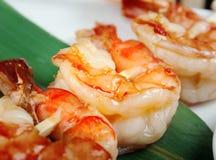 Japanese skewered  royal prawn Stock Photo