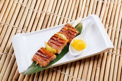 Japanese skewered  seafoods Stock Image