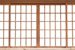 Japanese sliding paper door Stock Images