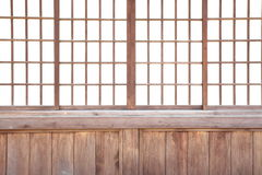 Japanese sliding paper door Royalty Free Stock Images
