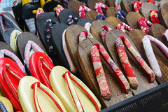 Free Japanese Slippers Stand Royalty Free Stock Photography - 38384347
