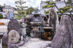 Japanese small pavilion in Itsukushima Shrine Stock Image
