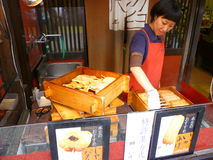 Japanese snack stall Royalty Free Stock Images