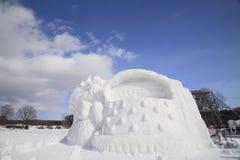 Japanese snow  festivals Stock Photos