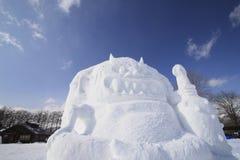 Japanese snow  festivals Royalty Free Stock Photography
