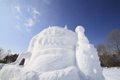 Japanese snow  festivals Royalty Free Stock Images