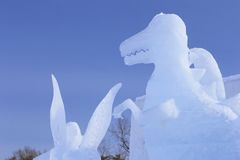 Japanese snow  festivals Royalty Free Stock Photo