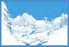Japanese snowy landscape Stock Image