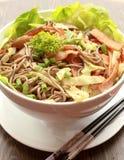 Japanese Soba. Close-up of Japanese Soba with Chopstick stock image
