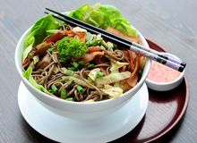Japanese Soba Noodles Royalty Free Stock Photo