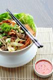 Japanese Soba Noodles royalty free stock photos