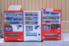 Japanese soft drink vending machine Stock Photos