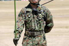 Japanese soldier with military uniform. Japanese soldier with military camouflage uniform Royalty Free Stock Photography