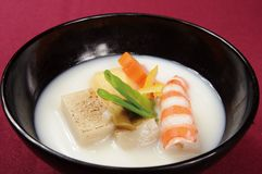 Japanese soup. Japan bowl of soup cooking Stock Image