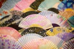 Japanese souvenir fans Royalty Free Stock Images