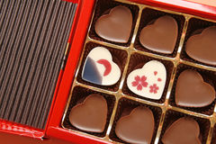 Japanese souvenir heart chocolate Stock Photos