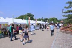 Japanese souvenir shops at Nagoya Castel Stock Photo