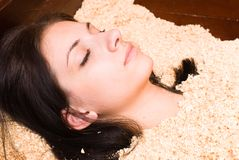 Japanese spa procedure Stock Photos