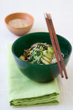 Japanese Spinach Leek Salad Royalty Free Stock Image