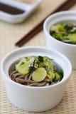 Japanese Spinach Leek Salad Stock Photos