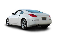Japanese Sports Car. A rear view of a Japanese sports car, isolated on white background with clipping path. See my portfolio for more automotive images stock photography