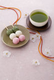 Japanese spring's tea time Royalty Free Stock Image