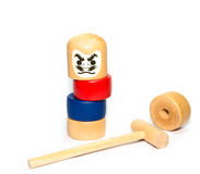 Japanese Stacked Daruma Game Stock Photos
