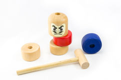 Japanese Stacked Daruma Game Stock Photo