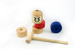 Japanese Stacked Daruma Game Stock Images