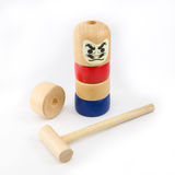 Japanese Stacked Daruma Game Royalty Free Stock Photography