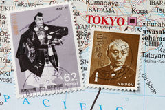 Japanese stamp Stock Photography