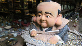 Japanese statue in Arashiyama, Kyoto Royalty Free Stock Photography