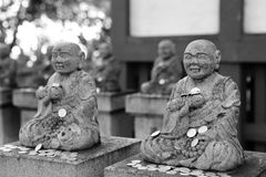 Japanese statue in temple Stock Photos
