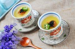 Japanese steamed custard Royalty Free Stock Image