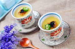 Japanese steamed custard Royalty Free Stock Images