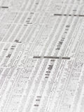 Japanese stock market price on financial newspaper Stock Images