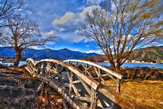 Japanese Stone Bridge Stock Photo