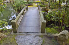 Japanese Stone Bridge Royalty Free Stock Photos