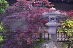 Japanese stone garden stock photo