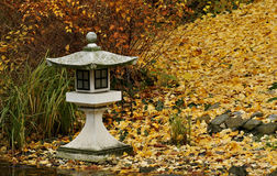 Japanese stone lamp Royalty Free Stock Photography