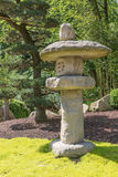 Japanese stone lamp outdoors Royalty Free Stock Photography