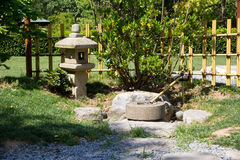 Japanese stone lamp Stock Photos