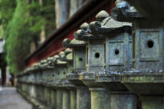 Japanese stone lantern Stock Image