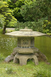 Japanese stone lantern. Stone lantern located at the San Francisco Japanese Tea Garden Royalty Free Stock Photos